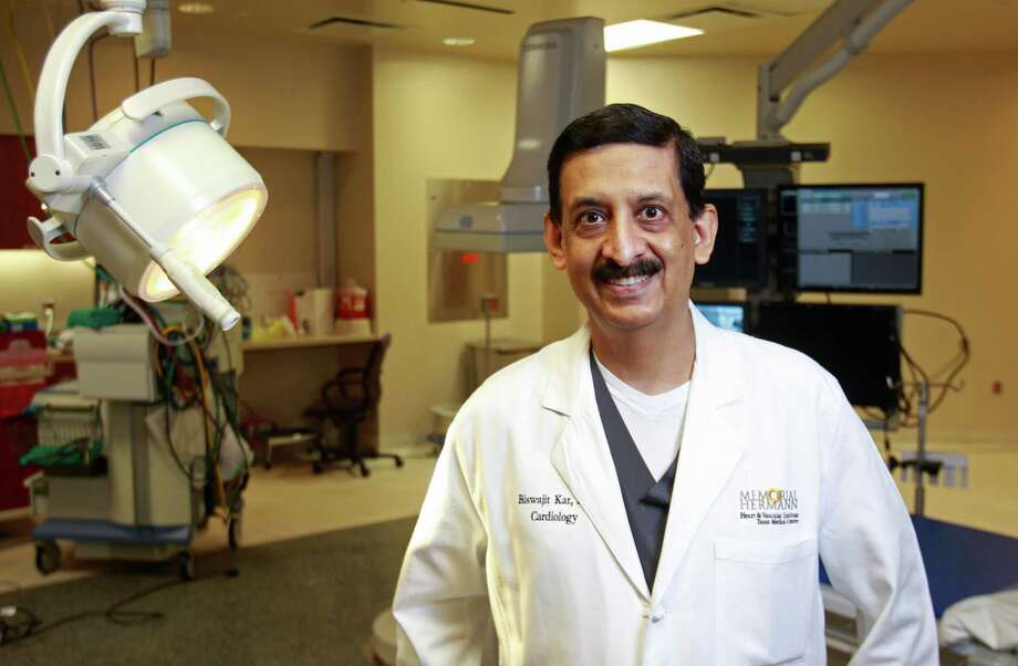 Dr. Biswajit Kar, chief of the medical division of the Center for Advanced Heart Failure at Memorial Hermann Heart & Vascular Institute, says women in the last trimester of pregnancy should be on the alert for symptoms of peripartum cardiomyopathy. Photo: Melissa Phillip, Staff / © 2014  Houston Chronicle