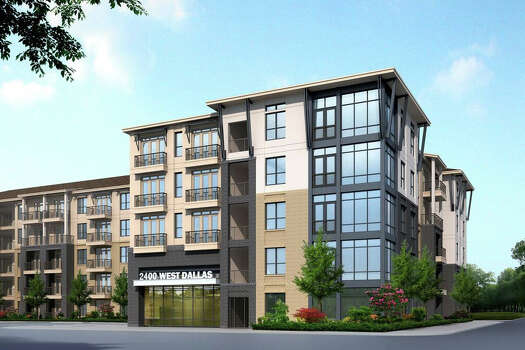 Here is a rendering of what the luxury apartment complex in Montrose was supposed to look like.