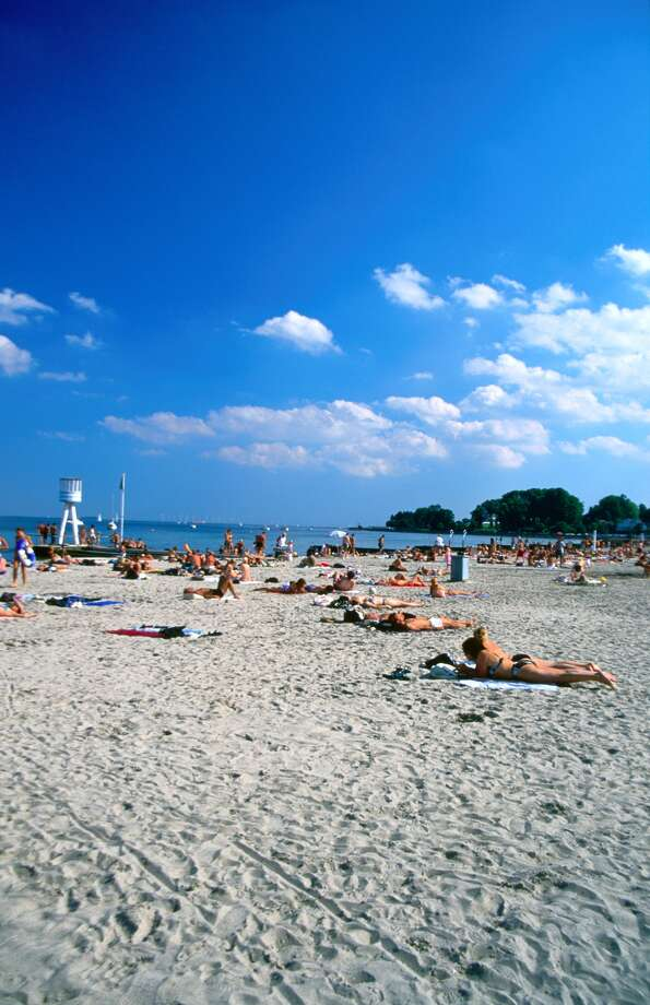 Bellevue Beach in Klampenborg, Denmark