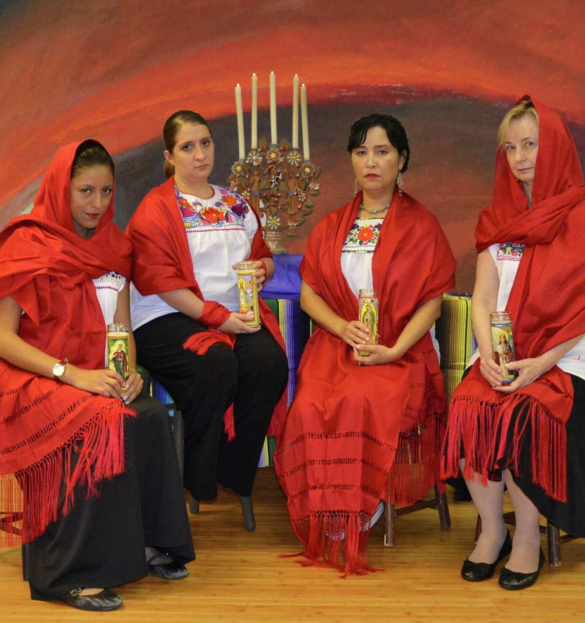 "Anna De Luna (from left), Adriana Sánchez-Navarro, Marisela Barrera and Magda Porter will perform in ""Rebozos."""