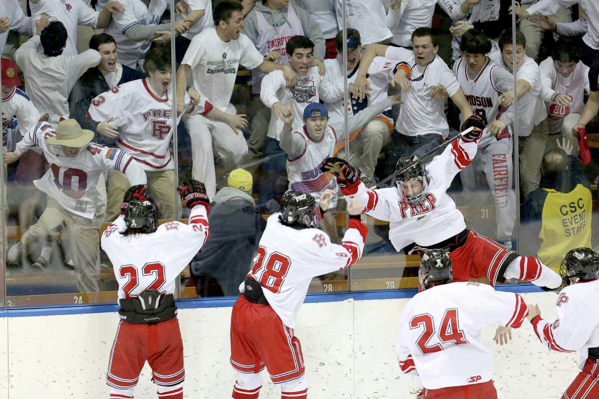 (8) Fairfield Prep's hockey team . They weren't the best or most dominant one in Prep's rich history, but this year's edition, dug deep and rallied to win state title number 16. In the Division I semifinals, the Jesuits beat Notre Dame-West Haven 4-3 in overtime. In the championship game against Darien, Vincent D'Amore, ripped a slapshot home to give Prep a 2-1 sudden death victory over the Blue Wave.