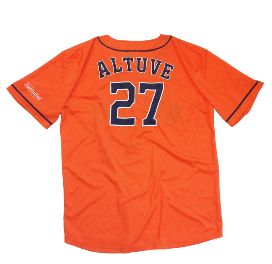 Jose Altuve Orange Jersey Giveaway First 10,000 fans, presented by Houston MethodistDate:Saturday, May 31  Opponent: Baltimore Orioles