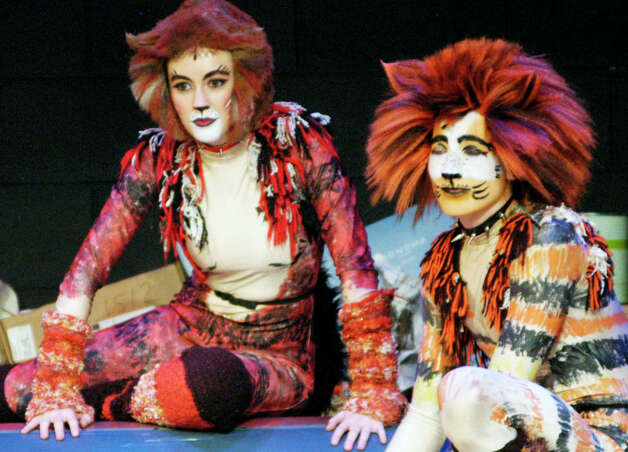 "Rehearsal for New Milford High School's production of Andrew Lloyd Webber's musical, ""Cats."" March 17, 2014 Photo: Norm Cummings / The News-Times"