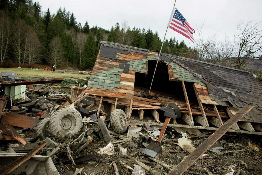 Damage is shown near Oso, Wash. In the wake of Saturday's mudslide in Snohomish County, there have been  over 150 reports of missing people or unaccounted individuals and dozens  of bodies found in the debris. Photo: JOSHUA TRUJILLO, SEATTLEPI.COM / SEATTLEPI.COM