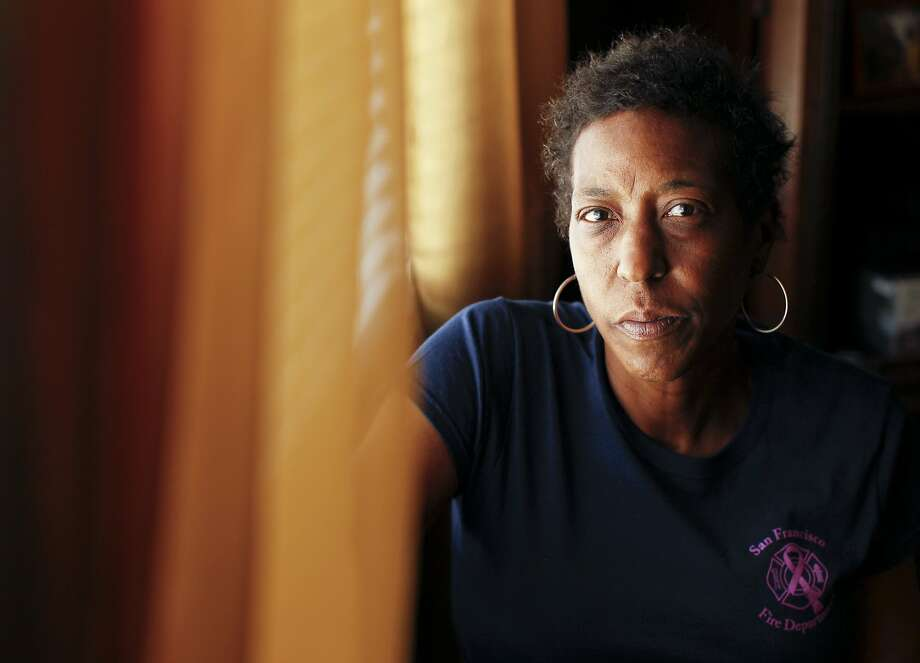 Retired firefighter Denise Elarms is fighting cancer. Photo: Genevieve Ross, Special To The Chronicle