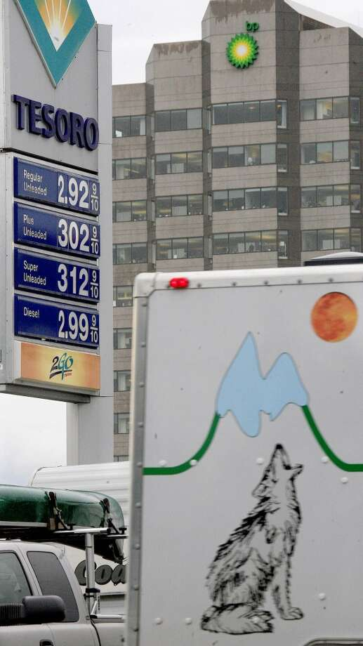 3. Alaska -- $3.833  [Photo: Vehicles drive past a Tesoro gas station in Anchorage in August 2006.] Photo: AL GRILLO, AP
