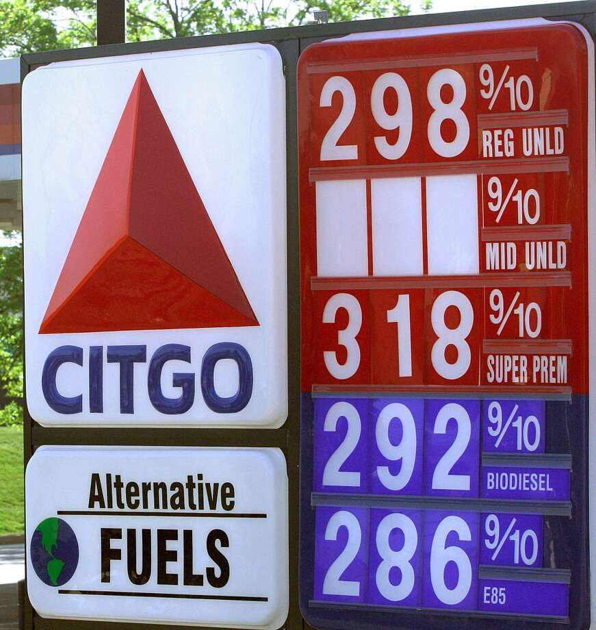 42. Virginia -- $3.343  [Photo: A sign at a Citgo gas station in Arlington advertizes  E85, a blend which uses 85 percent ethanol and 15 percent petroleum gasoline.] Photo: KAREN BLEIER, AFP/Getty Images