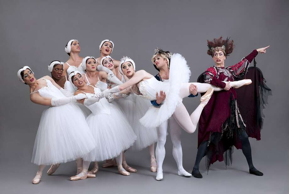 "The travesty version of ""Swan Lake"" sold out Zellerbach Hall. Photo: Sascha Vaughn, Cal Performances"