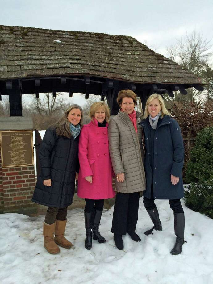 Above, members of the New Canaan Garden Club Provisional Class 2014, from left, Jo Ziesing, Tori Frazer, Ellen McMahon and Carrie Deane Corcoran. Photo: Contributed Photo, Contributed / New Canaan News Contributed