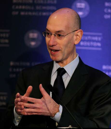 NBA Commissioner Adam Silver gestures during an address, Wednesday, March 12, 2014, in Boston. (AP Photo/Charles Krupa) Photo: Charles Krupa, STF / AP