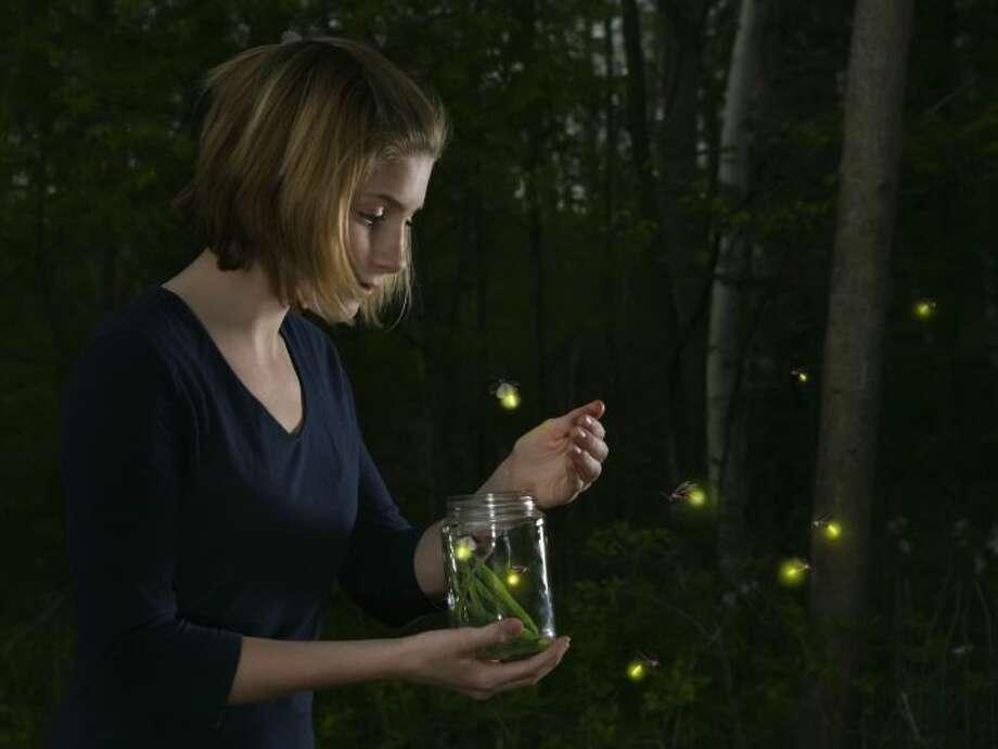 Fireflies on a July evening.