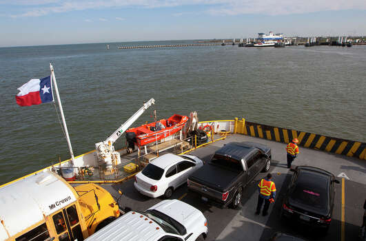 Ferry service between Galveston and the Bolivar Peninsula was open on Tuesday after the oil spill in Galveston Bay briefly closed operations. Photo: Cody Duty, Staff / © 2014 Houston Chronicle