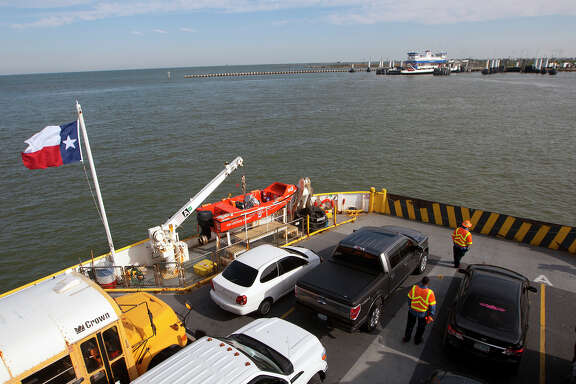 Ferry service between Galveston and the Bolivar Peninsula was open on Tuesday after the oil spill in Galveston Bay briefly closed operations.