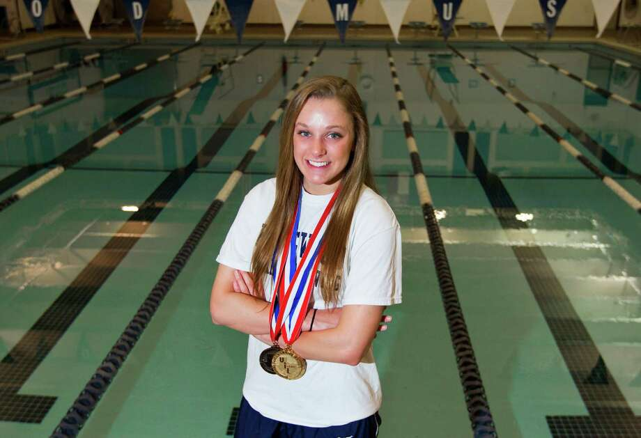 Kingwood's Lexie Upton won the 50- and 100-yard freestyle championships at the state meet. Photo: Cody Duty, Staff / © 2014 Houston Chronicle