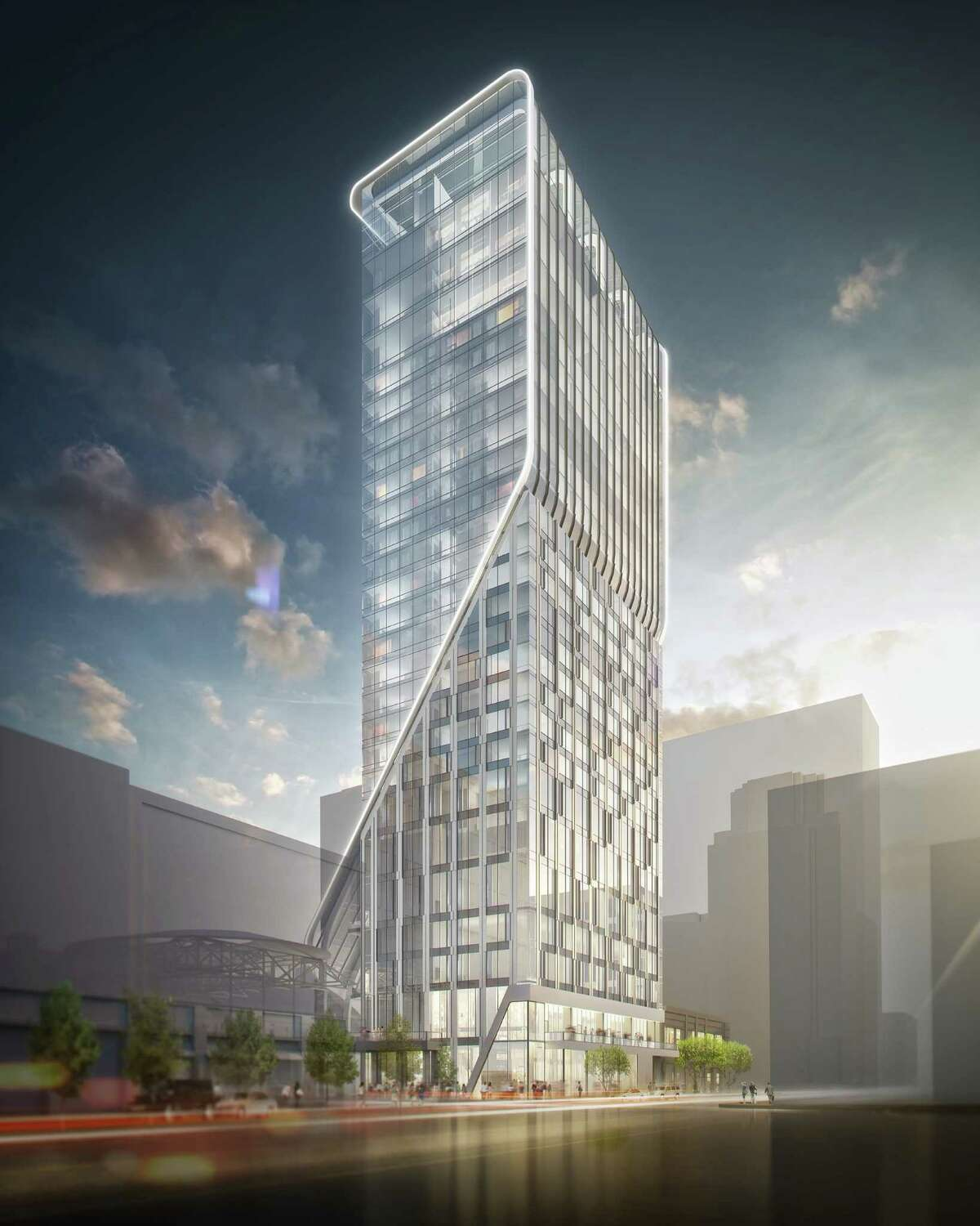 Rendering of planned Hotel Alessandra at GreenStreet downtown.
