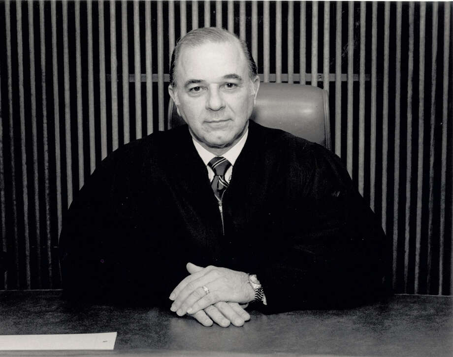 Former 172nd District Court Judge Thomas A. Thomas, as he appeared on the bench during his tenure in the 1980s. Enterprise file photo
