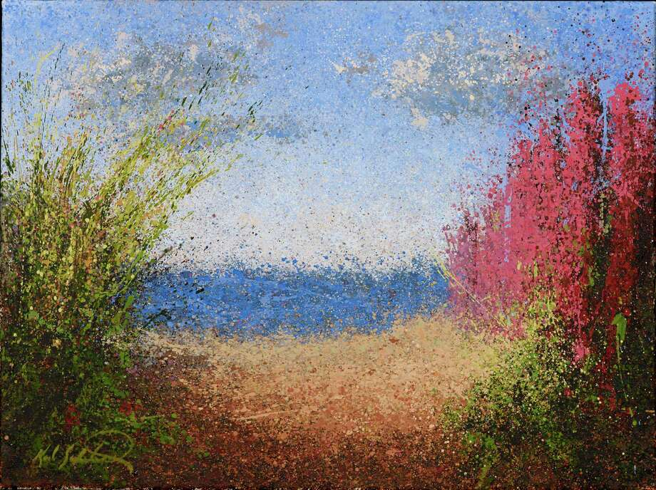 """Splatter Art"" featuring the new landscape oils of Fairfield painter Karl Soderlund will be on exhibit from April 1 to 19 at the Geary Gallery of Darien. ""Beach Path"" is among the works on display. Photo: Contributed Photo, Contributed / Darien News"