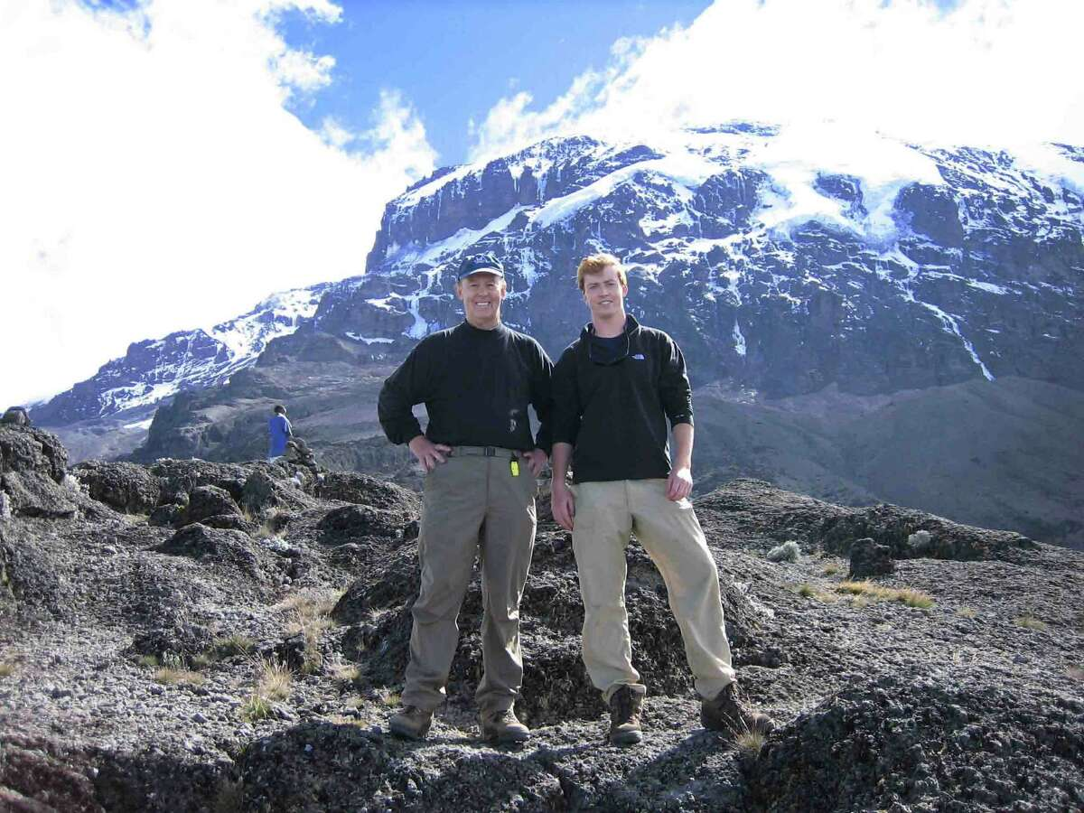 Jay and Peter Gronlund successfully climbed Mount Kilimanjaro. Jay Gronlund will speak to the Senior Men;s Club of New Canaan Friday, April 4.