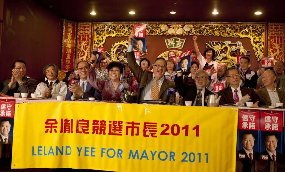 Senator Leland Yee ran for the San Francisco Mayor's office in 2011. Supporters of mayoral candidate and State Sen. Leland Yee gather at the Imperial Palace restaurant in San Francisco, Calif. on Friday, Sept. 23, 2011.  The group backed Yee over incumbent Mayor Edwin Lee. Photo: Thomas Webb, The Chronicle