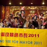 Senator Leland Yee ran for the San Francisco Mayor's office in 2011. Supporters of mayoral candidate and State Sen. Leland Yee gather at the Imperial Palace restaurant in San Francisco, Calif. on Friday, Sept. 23, 2011.  The group backed Yee over incumbent Mayor Edwin Lee.