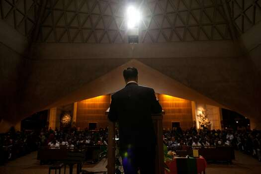 California State Senator Leland Yee speaks at a reception for African American students at Saint Mary's Cathedral in 2011 in San Francisco.  Yee ended up finishing in 5th place in the final voting for the mayor campaign that year. Photo: David Paul Morris, Special To The Chronicle