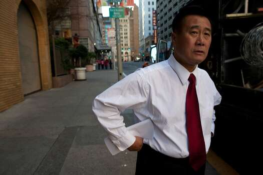 California State Senator Leland Yee of district 8 in San Francisco waits for members of his staff outside of the offices of Yelp on February 9, 2011 in San Francisco, Calif.  Photo: David Paul Morris, Special To The Chronicle