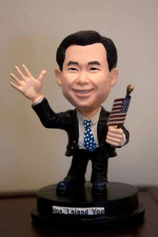 A bobble head of California State Senator Leland Yee of district 8 in San Francisco in his office at the state capitol on February 9, 2011 in Sacramento, Calif. Photo: David Paul Morris, Special To The Chronicle