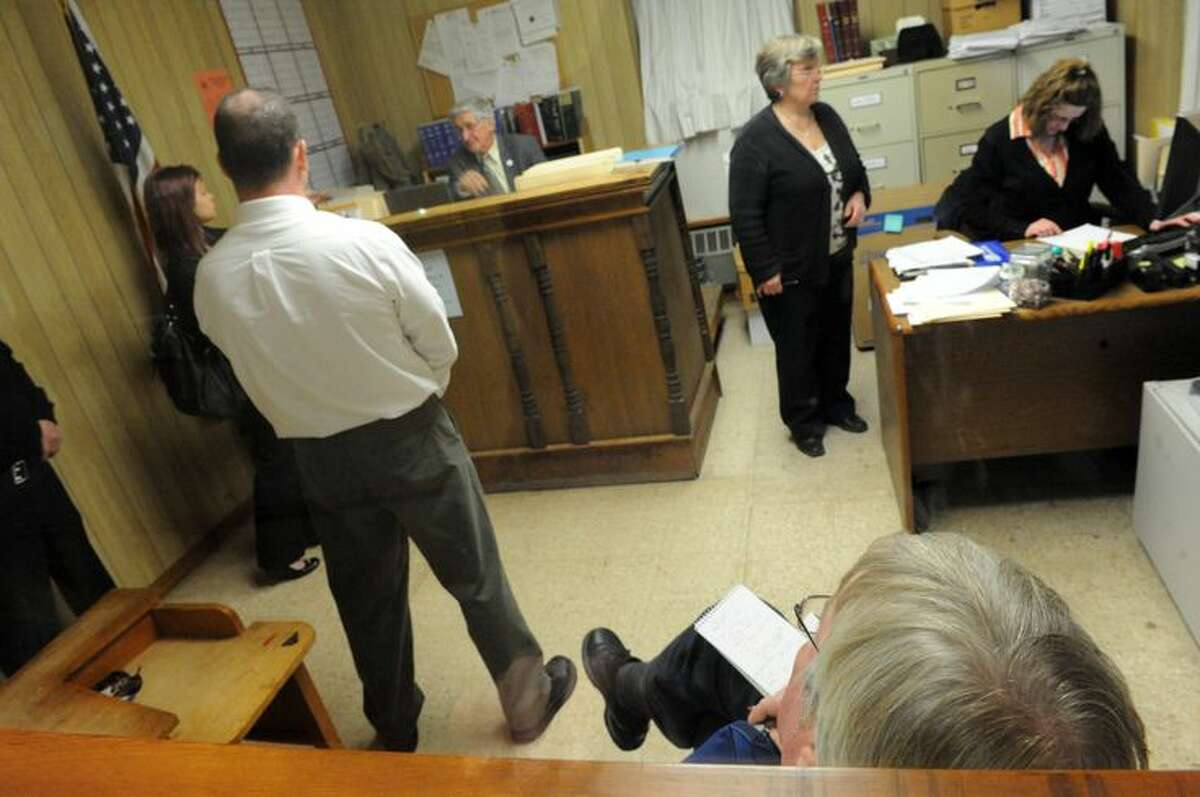 Times Union reporter Ken Crowe covers the final night of Castleton Town Court. (Michael P. Farrell - Times Union)