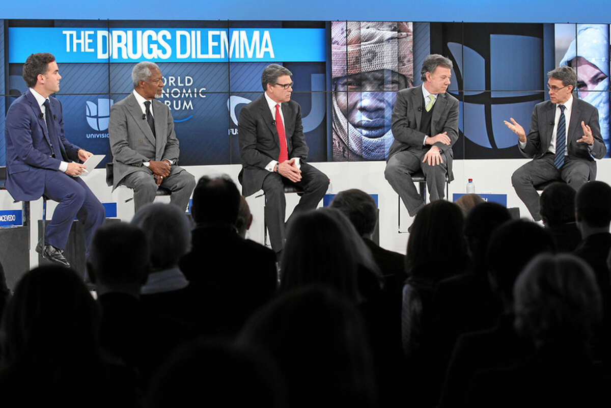 Gov. Rick Perry appeared on panels at the World Economic Forum (WEF) in Davos, Switzerland, in January 2014.