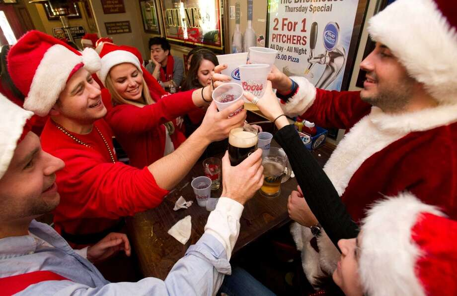 Brickhouse Bar and Grill during SantaCon in Stamford. Photo: Lindsay Perry