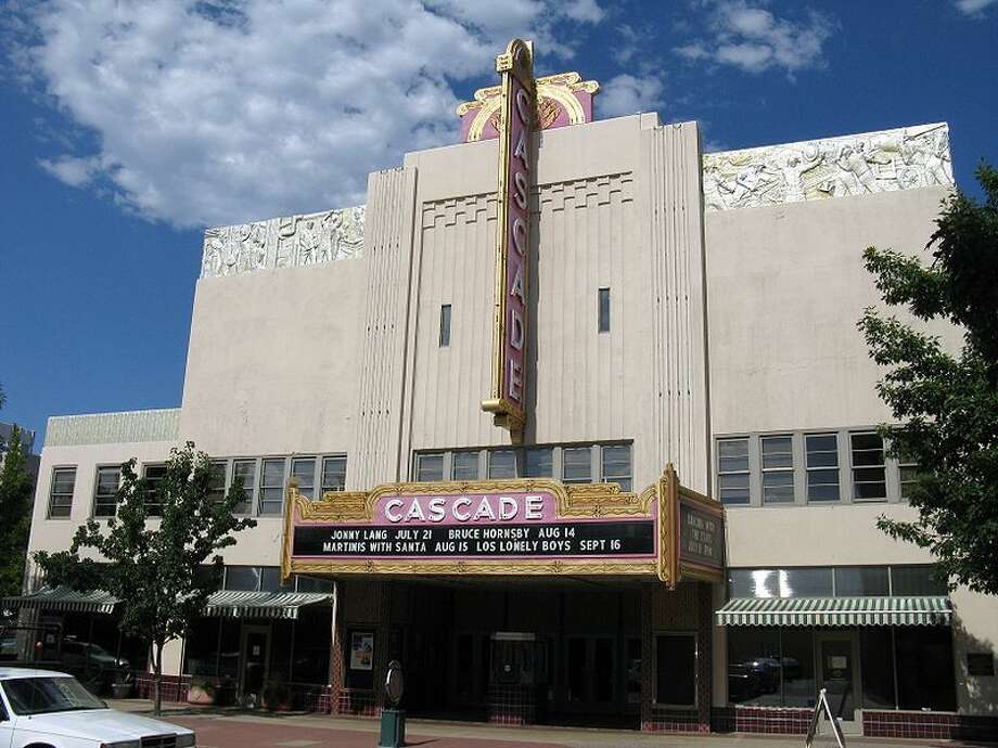 3. Redding, Calif., has this classic old theater but not much else in the way of well-being. Photo: Wiki Commons