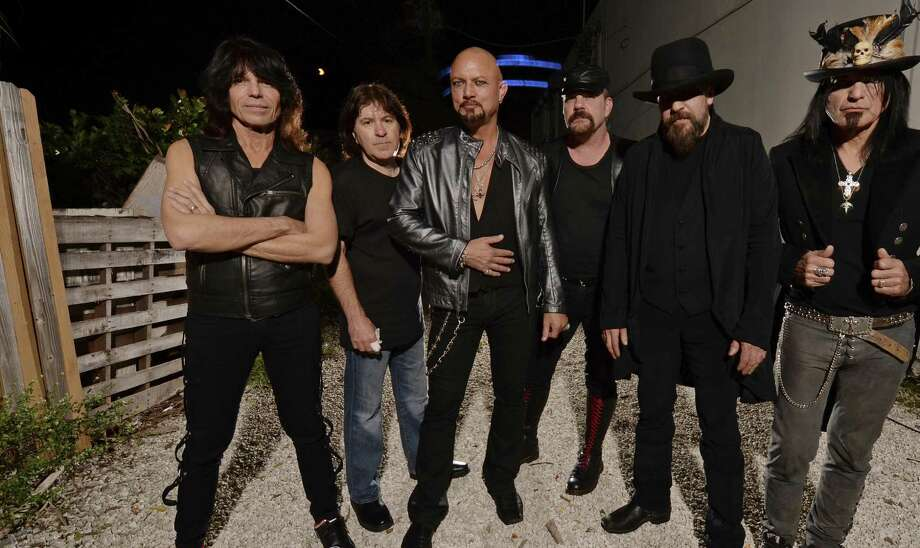 Geoff Tate (third from left) and the members of his new Queensryche will play many of the hits from the original band. Photo: Larry Marano / Getty Images / 2014 Larry Marano