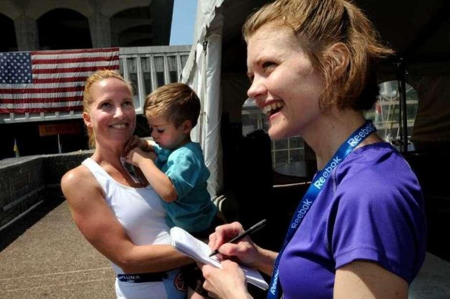 Jennifer Gish at the Freihofer's Run for Women. Photo: Times Union Photo Staff
