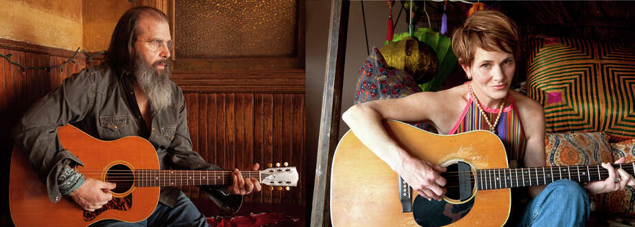 Steve Earle (photo by Ted Barron) and Shawn Colvin (photo by Michael Wilson) will be performing together at the Troy Savings Bank Music Hall.