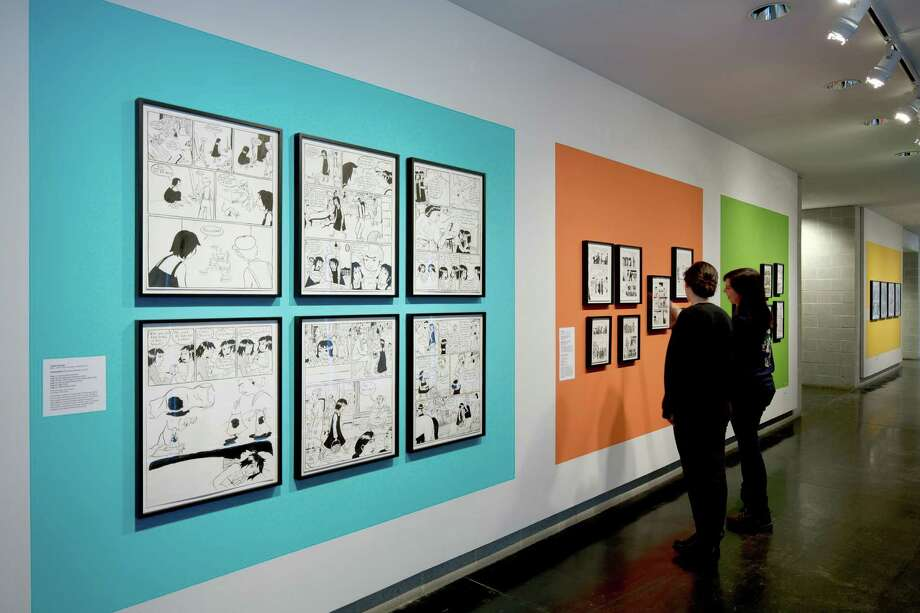 "A view of the exhibition ""Graphic Jews"" at the Tang Teaching Museum and Art Gallery from January 25 to April 13, 2014.  (Arthur Evans) Photo: Arthur Evans"