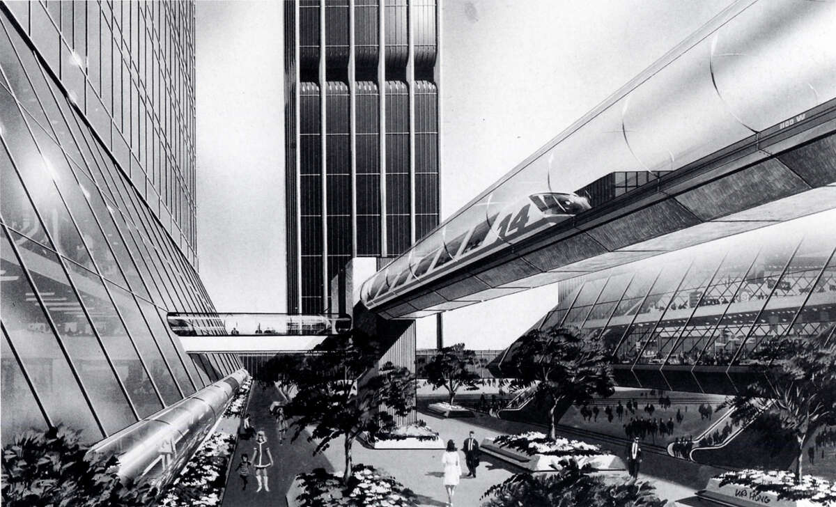 What might Houston have looked like? In 1970, the Texas Eastern Transmission Corporation proposed Houston Center, a sci-fi-like