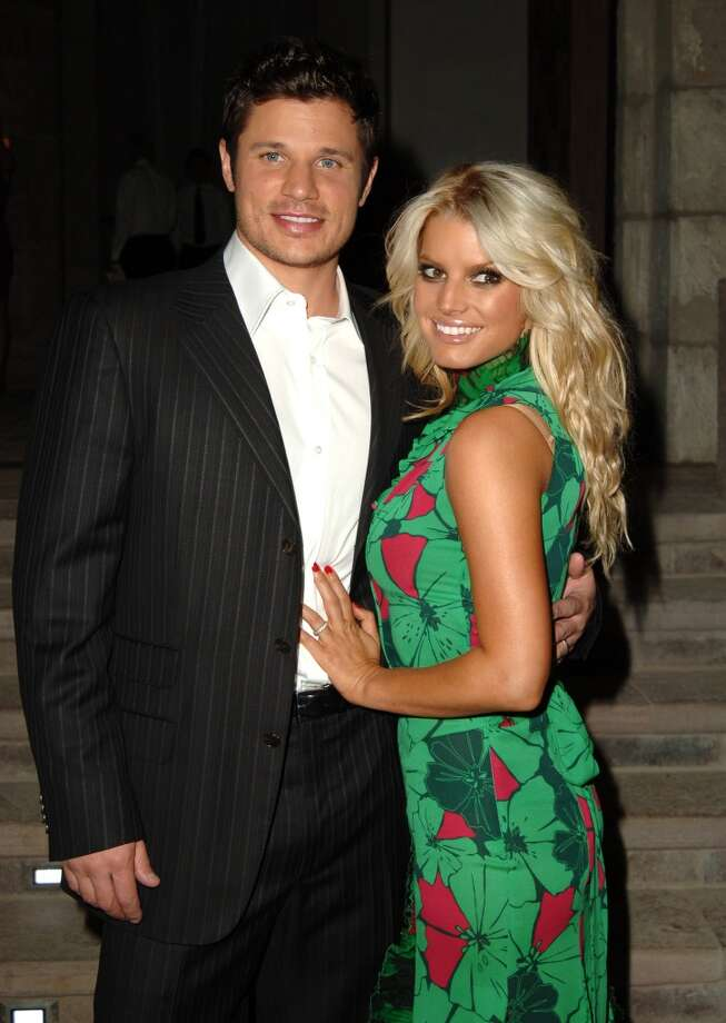 "Nick Lachey and Jessica Simpson were an incredibly over-exposed and grating couple during their 2002-2006 marriage and reality show ""Newlyweds."" Since their divorce, Nick has gone on to quietly partner with television personality Vanessa Minnillo while Jessica has over-exposed her dating life including relationships with John Mayer, Tony Romo and her current very long engagement to football player Eric Johnson. Photo: SGranitz, WireImage"