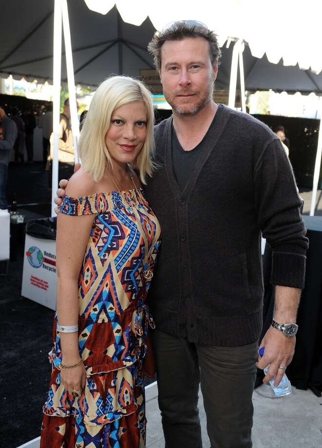 Tori Spelling and Dean McDermot very publicly started their relationship in 2005 when they were working on a made for television vision film and married to other people. Since then we've been graced with multiple reality shows staring the noToriously (as Spelling would say) publicity seeking couple and their ever expanding family. We'd like to imagine television without a new Spelling family reality show for at least one season. Photo: Michael Kovac, Getty Images For John Varvatos