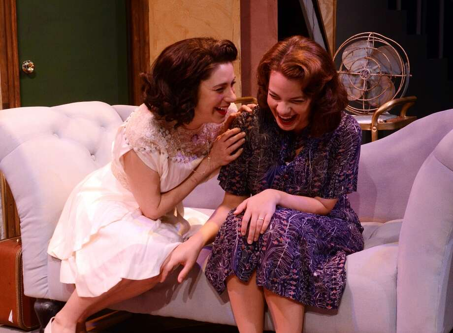 "Jade Oliver (left) as Blanche DuBois and Heather Rushing as her sister Stella Kowalski share a laugh in this scene from ""A Streetcar Named Desire."" The Beaumont Community Players production runs March 28-April 12.  Photo provided by Pete Churton/BCP Photo: Pete Churton/BCP"