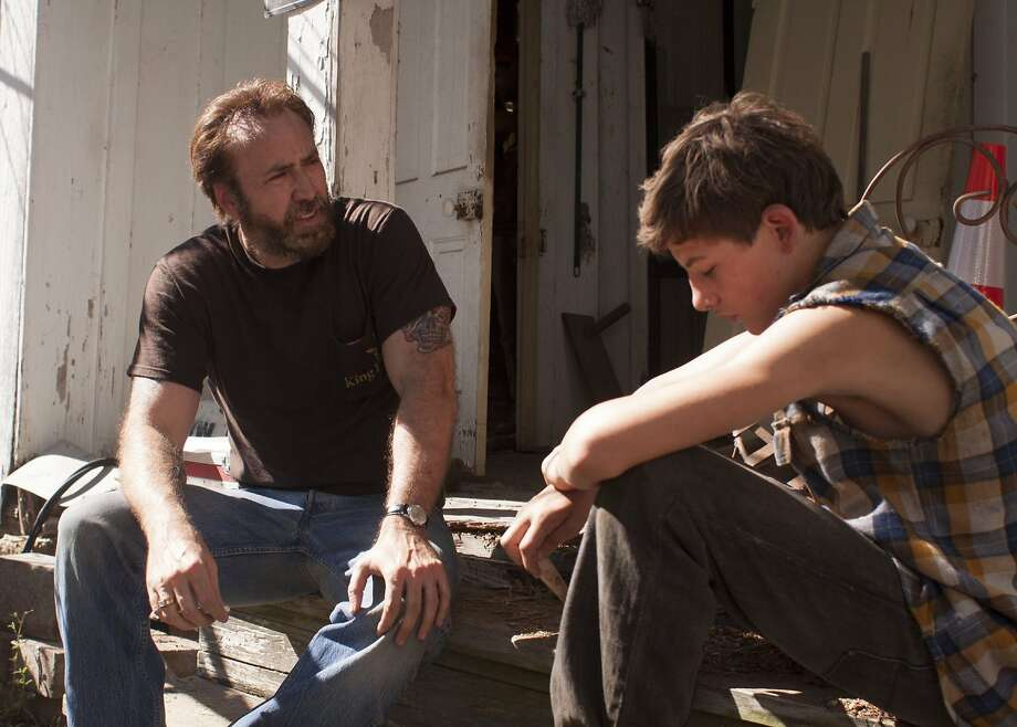 "Nicolas Cage, in one of his most settled and centered roles in years, plays an ex-con with anger issues who becomes an unlikely role model for a scrappy kid (Tye Sheridan) in ""Joe."" Photo: Linda Kallerus"