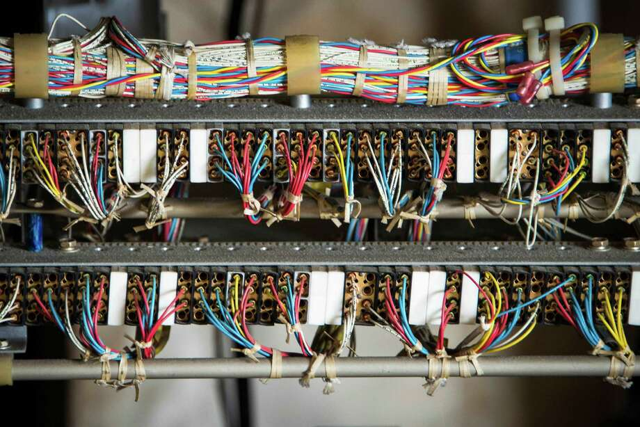 Exposed wiring in the NASA Shuttle Carrier Aircraft being dismantled at Ellington Field. Photo: Smiley N. Pool, Houston Chronicle / © 2014  Houston Chronicle