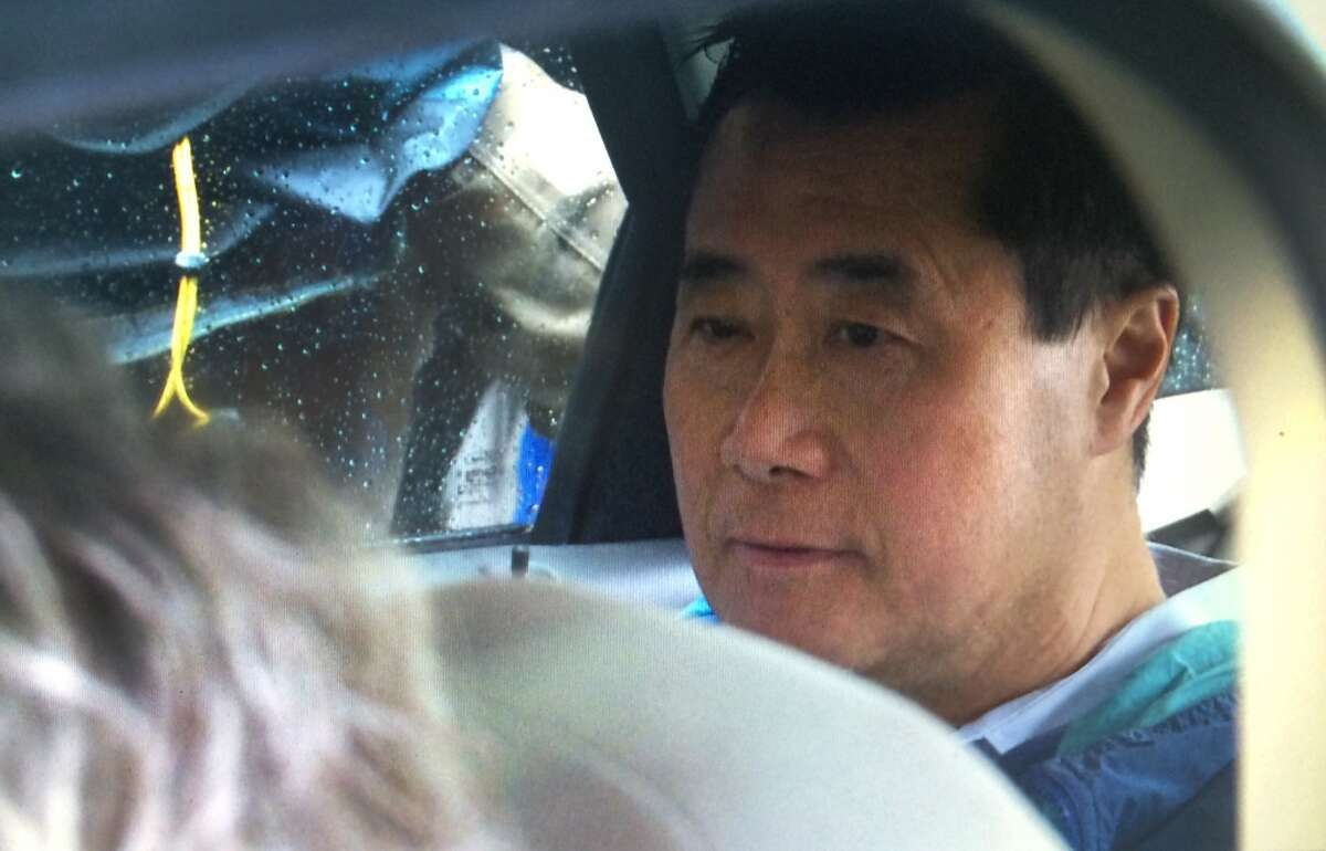 Leland Yee arriving at Phillip Burton Federal Building, Wednesday, March 26, 2014.