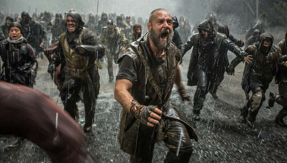 Russell Crowe (foreground) is Noah in NOAH, from Paramount Pictures and Regency Enterprises. Photo: Niko Tavernise, Paramount Pictures