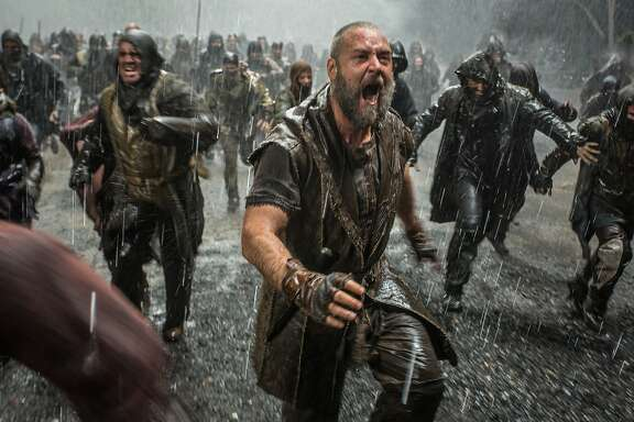Russell Crowe (foreground) is Noah in NOAH, from Paramount Pictures and Regency Enterprises.
