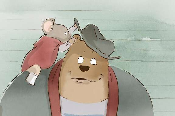 "Celestine is seen on Ernest in, ""Ernest and Celestine."""