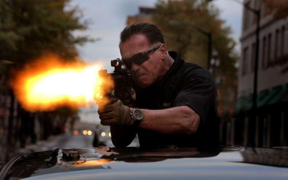 Arnold Schwarzenegger as Breacher in SABOTAGE, directed by David Ayer, opening March 28, 2014. Photo: Robert Zuckerman, Open Road Films