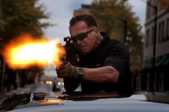 Arnold Schwarzenegger as Breacher in SABOTAGE, directed by David Ayer, opening March 28, 2014.