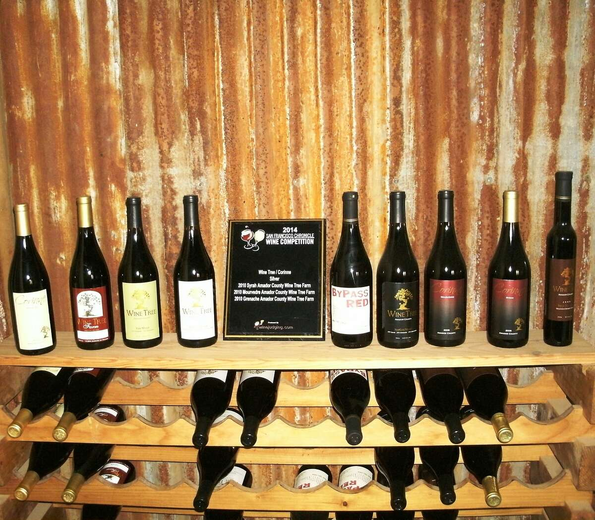 The tasting room at Wine Tree Farm in Amador County opened in May 2013.