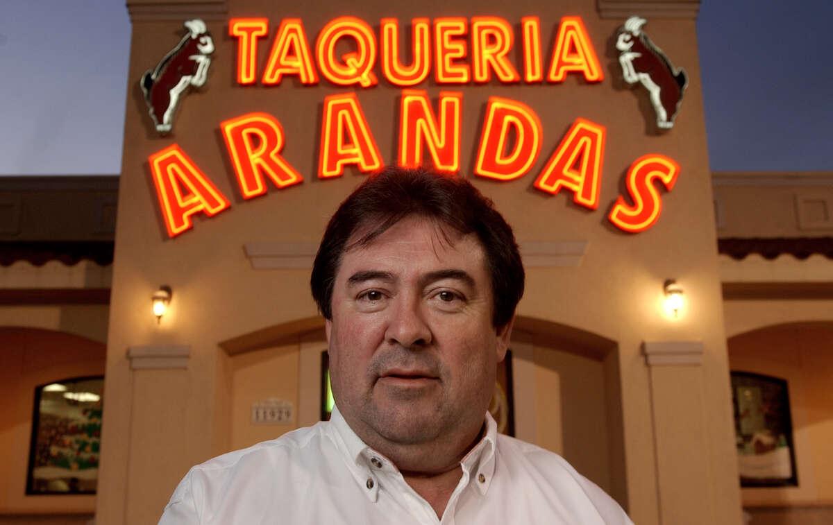 Arandas owner Jose Camarena poses for a photograph in December 2003.