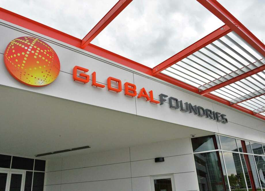 Entranceway to Global Foundries' Admin 1 building and the Globa Cafe in Malta, NY, Thursday May 23, 2013.  (John Carl D'Annibale / Times Union) Photo: John Carl D'Annibale / 00022539A